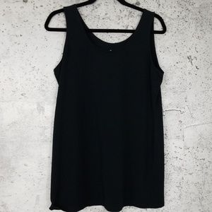 SOMA Simple Stretch Tank Black Large